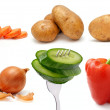Set of vegetables on a white background — Stock Photo #10305003