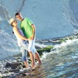 Young couple on the beach — Stock Photo #8130852