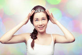 Girl in a diadem — Stock Photo