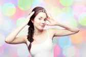 Beautiful girl in a diadem — Stock Photo