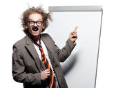 Crazy professor — Stock Photo