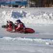 ������, ������: Speedway on ice turn on a two motorcycle