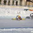 Samara Ice Speedway, the collision of two riders — Stock Photo #8873921