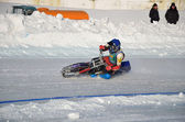 Race the ice speedway, accelerates — Stock Photo