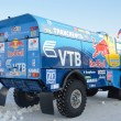 Truck for rally-raid team KAMAZ MASTER, shot from behindt — Stock Photo #9021529