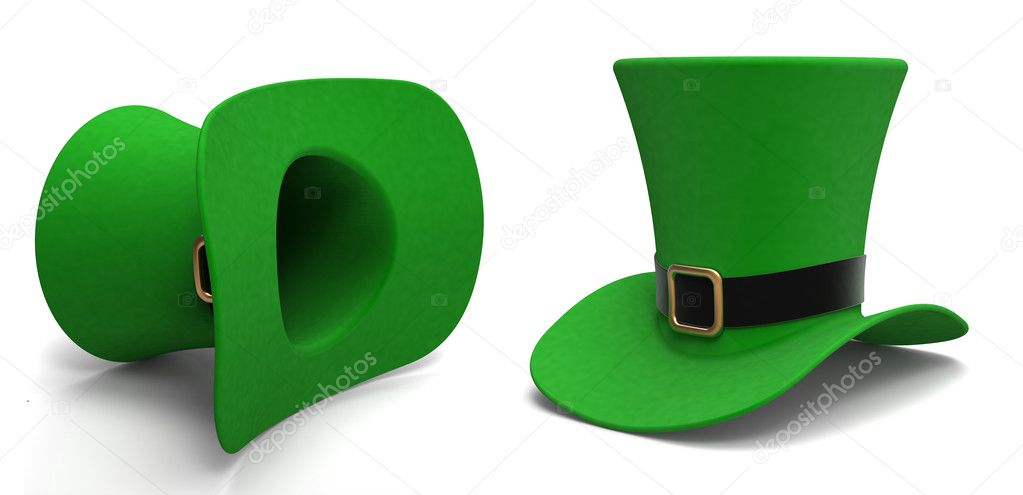 Leprechaun hat on a white background — Stock Photo #8231087