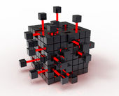 Abstract cube — Stockfoto