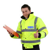 Happy security guard — Stock Photo