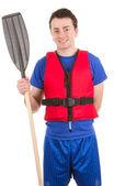 Boating guy — Stock Photo