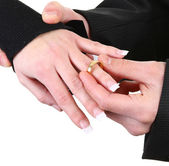 Placing the ring — Foto Stock