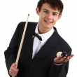 Snooker player — Stock Photo #8381662