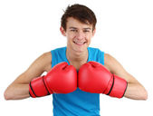 Boxing guy — Stock Photo