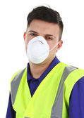 Guy with dust mask — Stock Photo