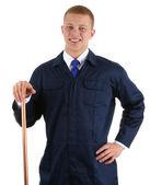 Happy plumber — Stock Photo