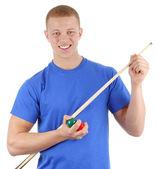 Snooker player — Zdjęcie stockowe
