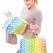 Studio shot of young woman after shopping — Stock Photo #10131042