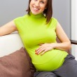 Happy pregnant woman — Stock Photo #8800607