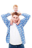 Man playing with his son — Stock Photo