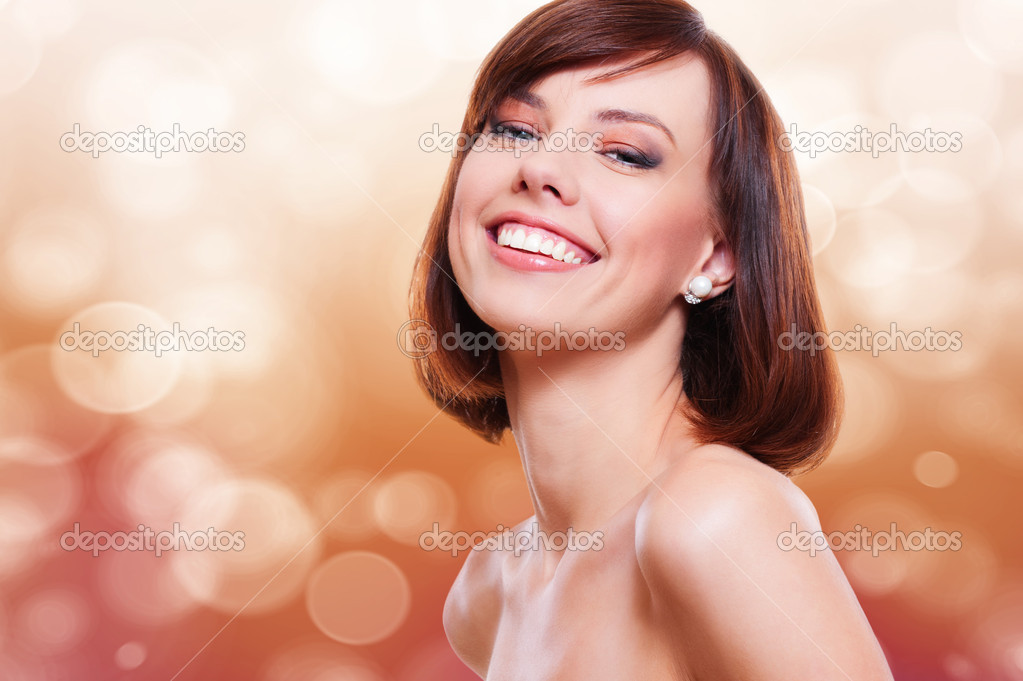 Portrait of attractive laughing model  Stock Photo #8800512