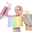 Blonde with shopping bags — Stock Photo #9149134
