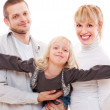 Young smiley family — Stock Photo #9149311