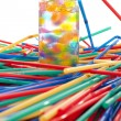 Stock Photo: Large Group of straws