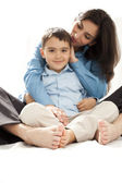 Mother and child toes — Stock Photo