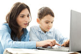 Mother and son activities — Stock Photo