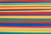Coloured straws — Stock Photo