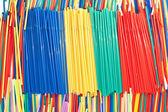 Plastic straws arangement — Stock Photo