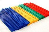 Party plastic straws — Stock Photo
