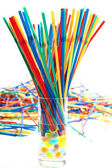 Multicoloured plastic straws — Stock Photo