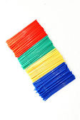 Diagonal plastic straws arangement — Stock Photo