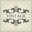 Royalty-Free Stock Vector Image: Vintage template with floral frame
