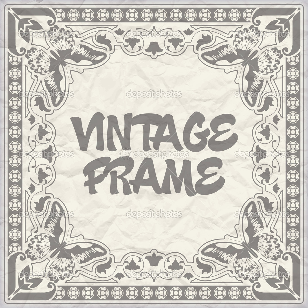 The vector image Vintage frame — Stock Vector #10427296