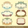 Set of the vintage frameworks - Stock Vector