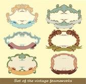 Set of the vintage frameworks — Stock Vector