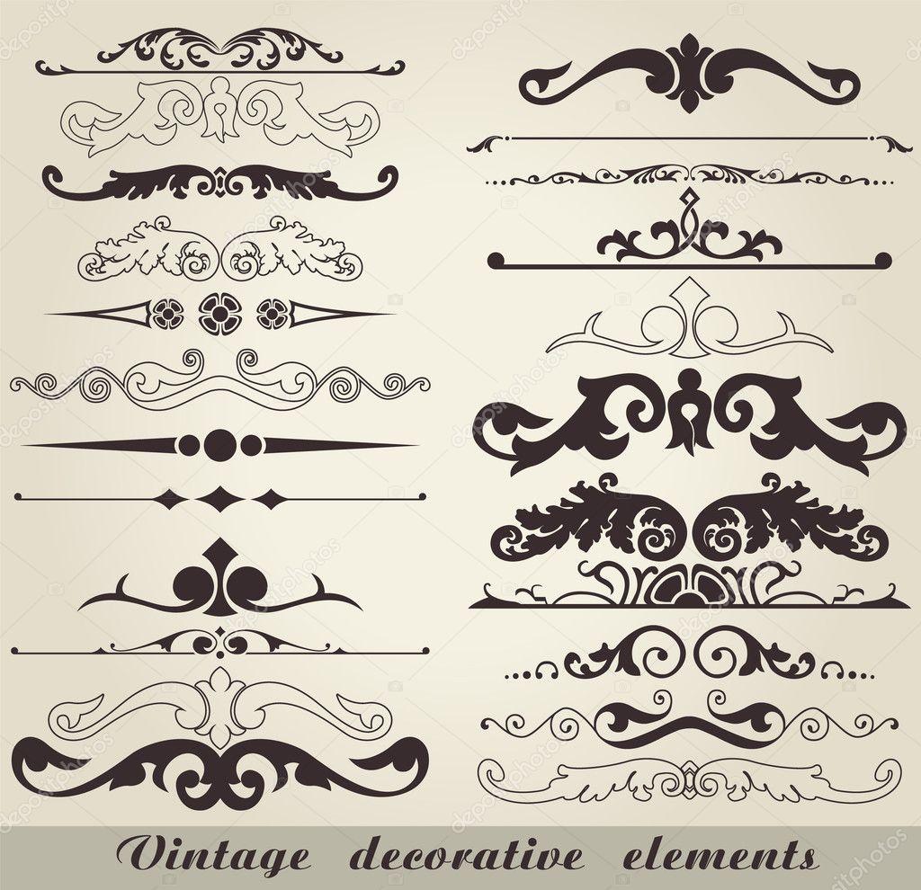 Vintage decorative elements stock vector konahinab for Decoration elements