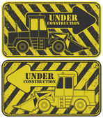 Under construction stamp — Stock Vector