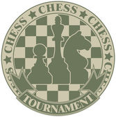 Chess tournament symbol — Stock Vector