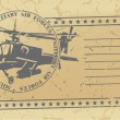 Stok Vektör: Air forces post stamp