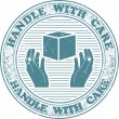 Handle with care stamp — Stock Vector