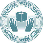 Handle with care stamp — Vecteur