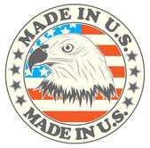 Made in U.S. symbol — Stock Vector