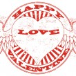 Happy valentine stamp — Stockvectorbeeld