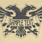 Heraldic stamp — Stock Vector