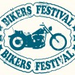 Stock Vector: Bikers festival stamp