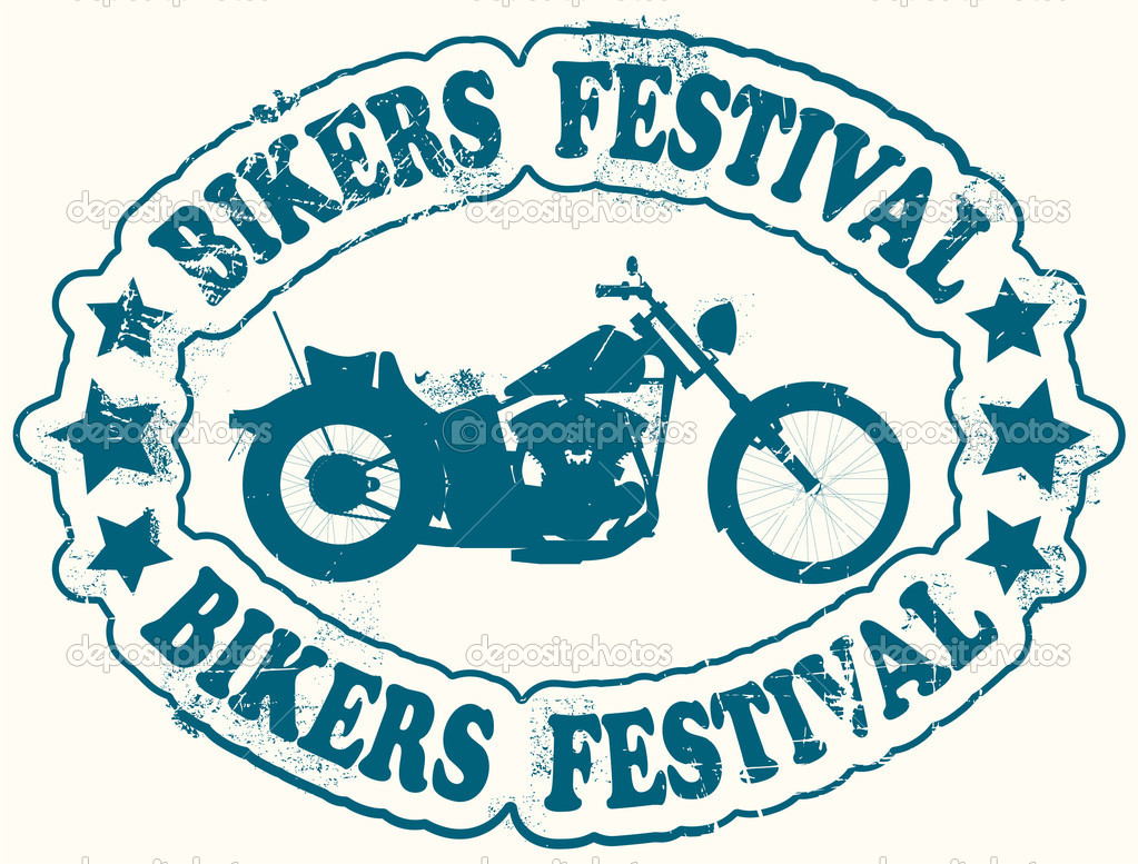 The vector image of Bikers festival stamp — Stock Vector #8518051