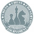 Chess tournament stamp — Stock Vector #8520529