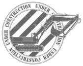 Timbre en construction — Vecteur